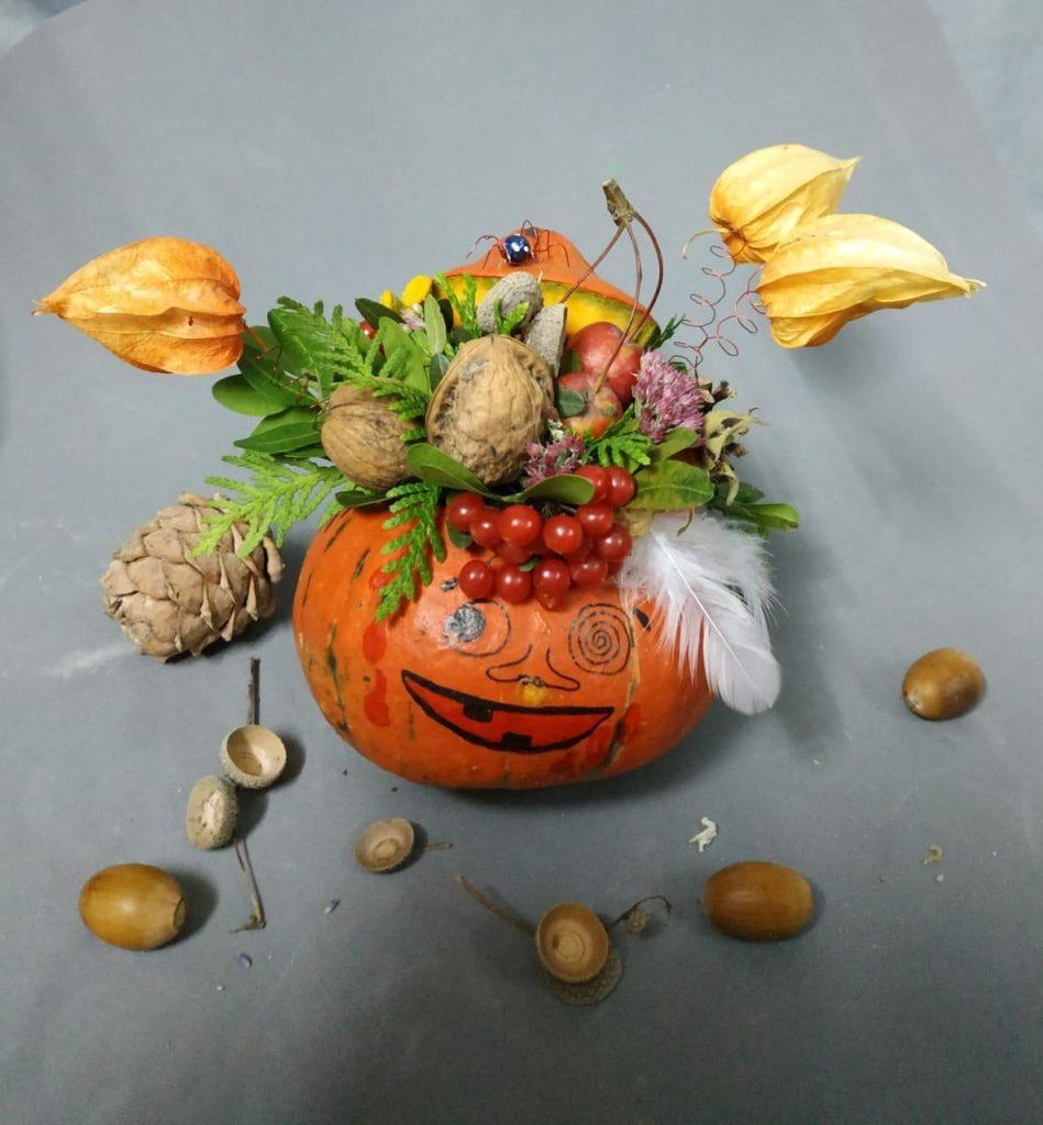 Мастер класс по оформлению тыквы на Хэллоуин
